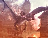 """Dragon Queen 12 x 18"""" Print"""