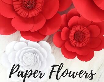 Paper flower template | flower template | paper flower backdrop | flower backdrop | giant paper flower | large paper flowers | paper flower