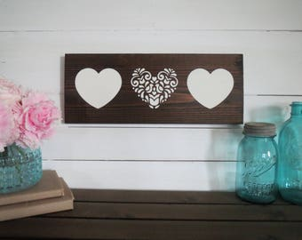 Rustic Heart Sign - Valentine Wall Sign - Wood Valentine Sign - Painted Heart Sign - Wood Heart Sign - Painted Valentine Sign