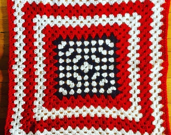 Stars & Stripes Crocheted Baby Blanket, Granny Square Crochet