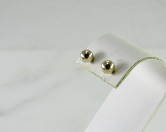 Sterling Ball Studs Pierced 5 mm (gg20)