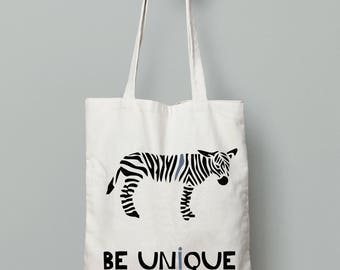 Zebra bag, Eco Friendly Canvas Tote Bag, Wedding Welcome Tote Bags, printed tote bag, beach tote, summer tote bag, Reusable Grocery Bag