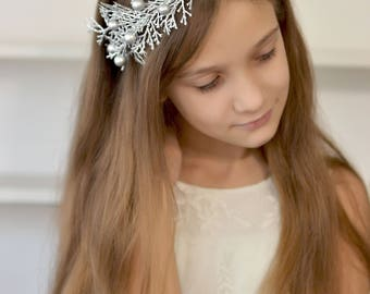Winter crown Frosty branches Headband Christmas crown Winter holiday crown adult Christmas headband Silver Sparkle Twig Crown Ice Queen