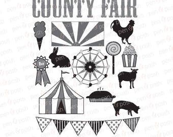 Svg - Fair SVG - Carnival SVG - Carnival Clip Art - County Fair SVG - Ferris Wheel Svg - Fair Farm Animals - Fair Clip Art -   Dxf
