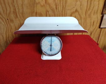 Vintage Sears Nursery Scale Adjustable Baby Scales With Large Baby Tray