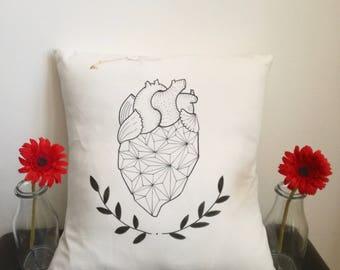Diamond Heart pillow W