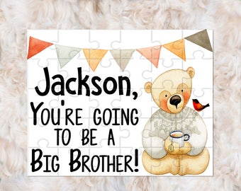 Big Brother Announcement, You're Going to Be A Big Brother, Big Brother Puzzle, Pregnancy Announcement Puzzle, Big Brother Gift