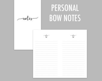 Personal TN Bow Notes