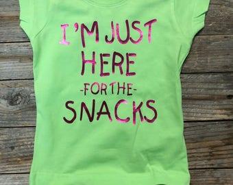 I'm just here for the snacks - Infant/Toddler Girl Shirt