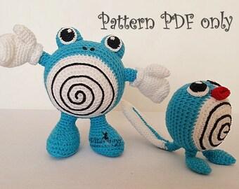 Crochet Pattern of Poliwhirl/Pokemon Go/from Pokemon Amigurumi/tutorial PDF file PoliWag/Pokémon Poliwhirl crochet/pattern PoliWag