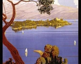 Itlay Lake Garda Poster A3 or A4 Matt