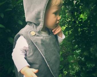 Reversible Vests Fall Vests Button Vests Whimsical Vests Vintage Vests Toddler Vests Baby Vests