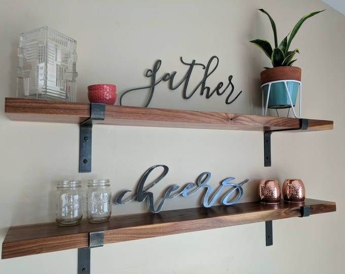 "FREE SHIPPING!!  Modern, Industrial, Metal Shelf Brackets, Metal Corbel, Handmade in the USA, 1.5"" Wide"