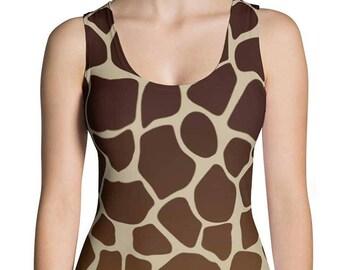 Giraffe Tank Top - Giraffe Print Shirt - Giraffe Costume - Halloween Costume - Giraffe Clothing - Giraffe Leggings