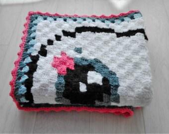 Rabbit Kietsu pattern baby blanket