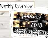 January Monthly Overview | New Year | Planner Stickers
