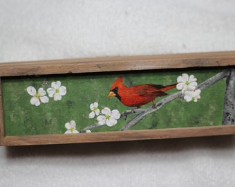 Cardinal,Dogwood,Wildlife,Dogs,Cats,Birds,Animals,CustomPetPortrait,TrinketBox,Wooden,MemorialBox,Jewelry,Gift,MadeToOrder,USA,FREE SHIPPING