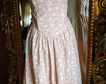 Vintage 80's Joni Blair Strapless Sun Dress