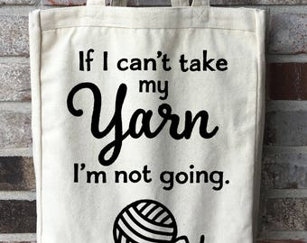 Yarn Bag - Crochet Accessories - Knitting Accessories - Large Craft Bag - Crochet Bag - Knitting Bag - Gift for Crocheter - Gift for Knitter