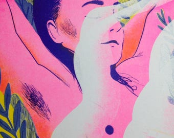 Tickled Pink –A3 Riso Print