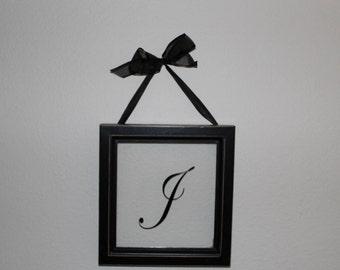 Monogramed J Glass Frame