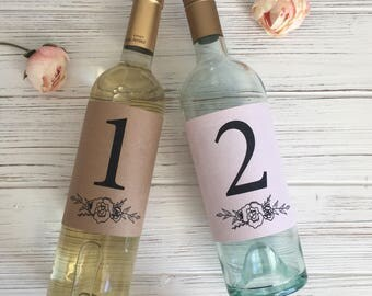 Printable Wedding Table Numbers, Floral Wedding Place Cards, Table Decor, Place Cards, Place Card Holder, Rustic Wedding