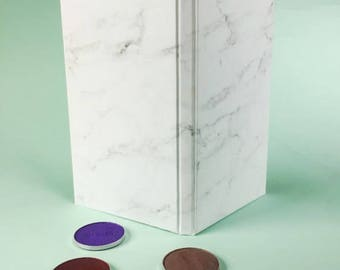 Large Marble Magnetic Makeup Palette - Double Sided Print with a Large Mirror - Gift or Birthday Present