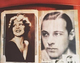 Old Hollywood Scrapbook from Early 1900s with Hundreds of Classic Films
