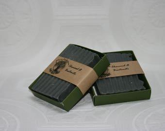 Charcoal and Bentonite Clay Bar Soap - goats milk soap