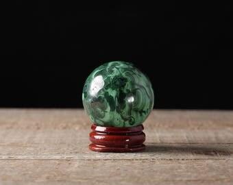 37mm MALACHITE Sphere - Malachite Stone Sphere, Malachite Crystal Sphere, Crystal Ball, Green Stone Sphere, Green Malachite Crystal 36736