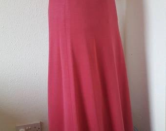1970s pink maxi skirt