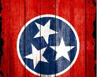 Tennessee Flag Wood Cornhole Wrap Bag Toss Decal Baggo Skin Sticker Wraps
