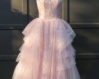 Blush pink evening dress ukraine