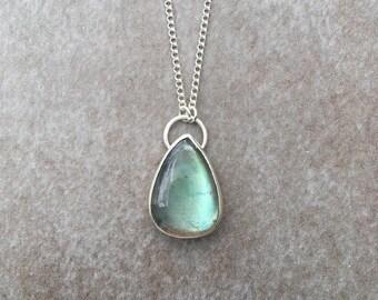 Ocean Blue Labradorite Necklace