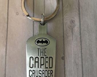 Caped Crusader keychain