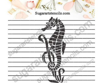 Sea horse ocean Tropical cookie Stencil Nb1517