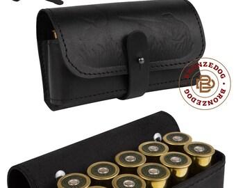 Handmade Leather Belt Cartridge Holder Shell Pouch Shotgun Rifle 16 12 gauge