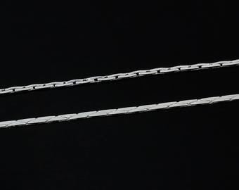 5 meters of fine silver metal chain