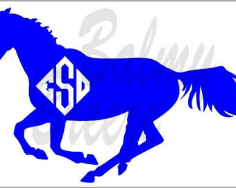 HI - 18 Thoroughbred with Initials  Vinyl Decal
