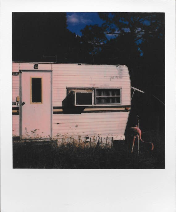 Set of Two : Southern Backroads / Vintage Style Original Polaroids by Dan Bell