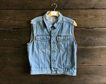 Vintage 90s Calvin Klein Denim Vest