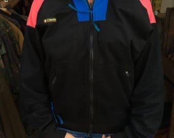 Jacket Fleece Color Block Zip Up Two Pockets