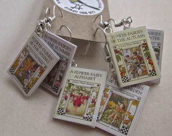 """Flower Fairies  Book Earrings from """"The Earring Library"""""""