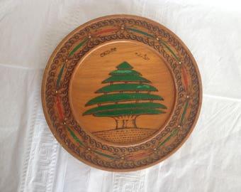 Cedar of Lebanon Cedar Plate Hand Made in Lebanon