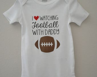I Love Watching Football With Daddy Onesie®