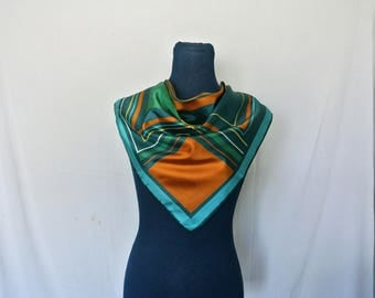 Retro 70s Square Abstract Scarf
