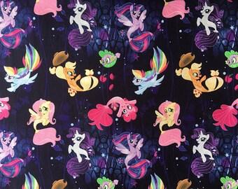 My Little Pony Fabric, My Little Pony Mermaid Tales, Hasbro My little pony Fabric, 100% Cotton Fabric by the yard