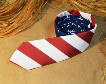 USA Flag Necktie - American Flag Tie - Flag of the United States