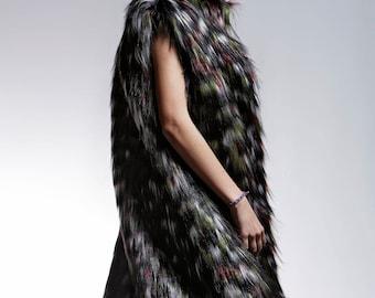 Limited Edition Faux Fur Short Coat & Waistcoat