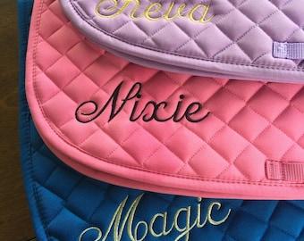 Personalized English Saddle Pad with Name